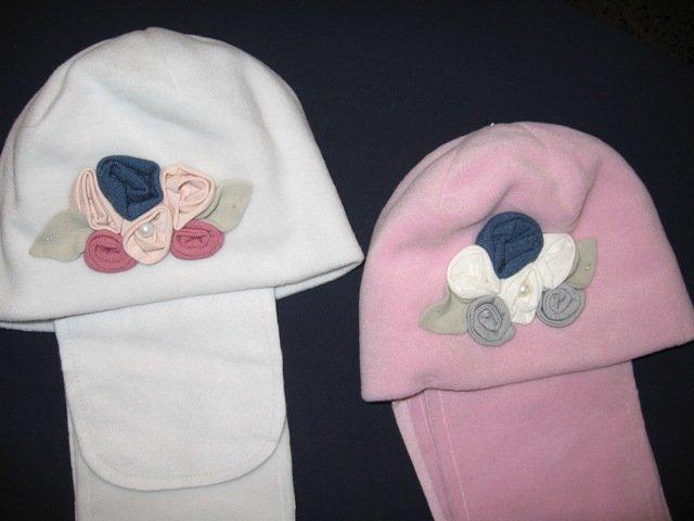 Ziemas cepure  ar šalli.